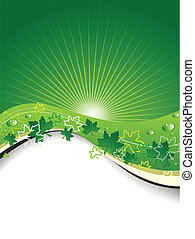Ecological Background - Vector illustration representing an...