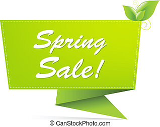 Sale Spring Banner, Isolated On White Background, Vector...