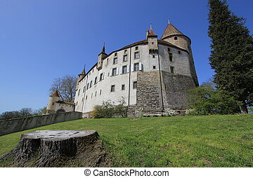 Old castle of Oron, Fribourg canton, Switzerland - Old...