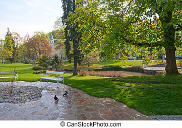 Marianske Lazne / Marienbad, Czech Republic - Park in the...