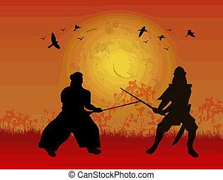 due, samurai