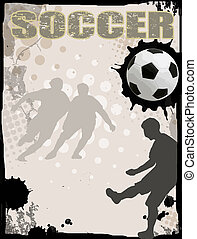 Soccer abstract background