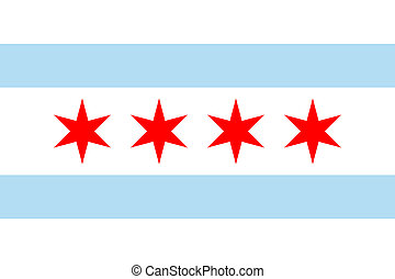 Chicago flag - Chicago city flag, state of Louisiana, U.S.A....