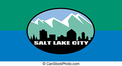 Salt Lake city flag - City flag of Salt Lake city in the...