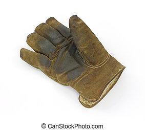 Worn work glove