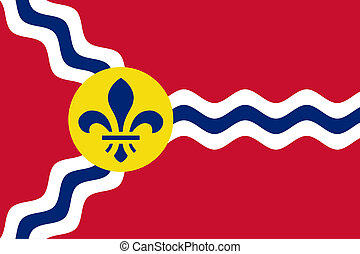 St Louis flag - City flag of St Louis city in Missouri in...