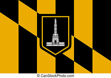 Baltimore city flag - City flag of Baltimore city in the USA...