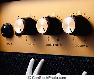 Turn it up to 11 - A guitar amplifier turned up to eleven...