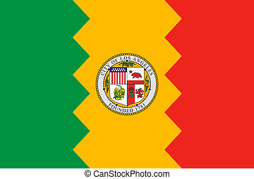 Los Anglese city flag - Flag of Los Anglese city in the USA...
