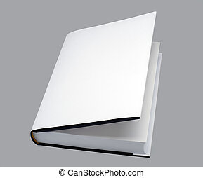 open white book with hard cover, for design layout