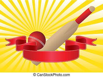 cricket bat and ribbon