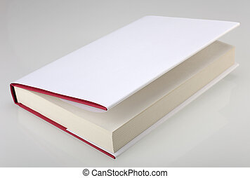 White hardcover book