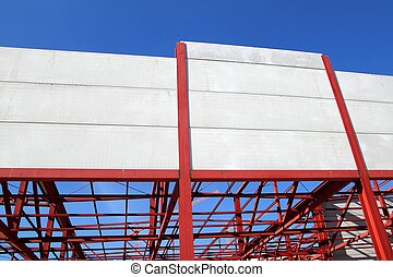 industrial building construction steel structure concrete