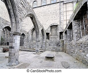 cathedral ruins - Ancient Cathedral Ruins in Dublin, Ireland
