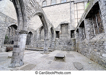 Ancient Cathedral Ruins in Dublin, Ireland