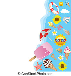 Summer background - Illustration vector