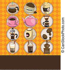 cartoon coffee card