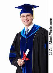 Um, estudante, diploma