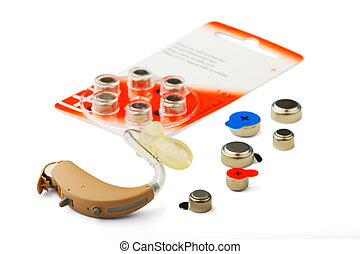 hearing aid and battery - The hearing aid and battery...