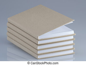 Note books in a stack