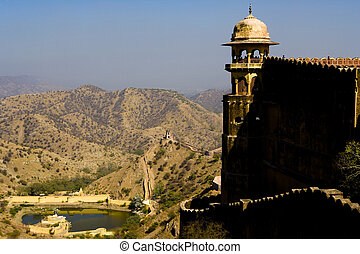 amber fort india - View looking south from Amber Fort, in...