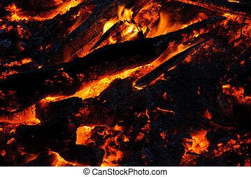 Cenizas, ardiendo fuego lento