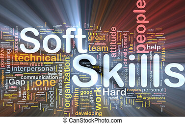 Soft skills background concept glowing - Background concept...