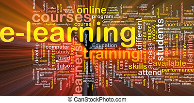 E-learning background concept glowing - Background concept...