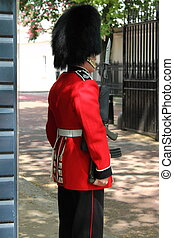 British royal guard in London (UK)
