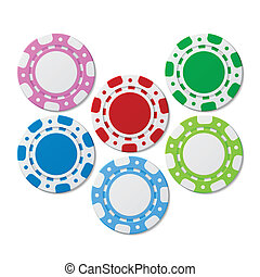 Poker chips - Vector illustration of poker chips