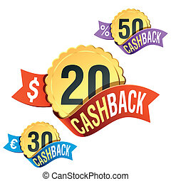 Cash-Back emblem - Vector illustration of Cash-back emblem