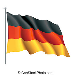 Flag of Germany - Vector illustration of flag of Germany