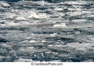 Ice Melting - Ice on lake Melting