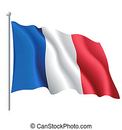 Flag of France - Vector illustration of flag of France