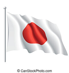 Flag of Japan - Vector illustration of flag of Japan