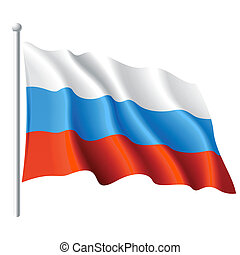 Flag of Russia - Vector illustration of flag of Russia