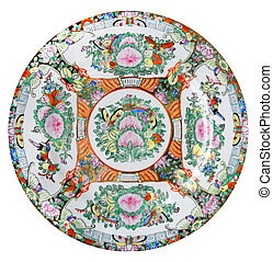 One chine plate - One chine colorful plate, object white...