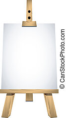 Easel with a blank sheet of white p