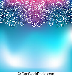 Abstract Blue Pink Swirl Background - An image of an...