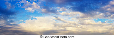 panoramic view of cloud sky