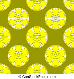 Background, lemons - Vector seamless background, pattern...