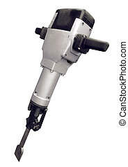 Jackhammer - Electric jackhammer isolated on a white...