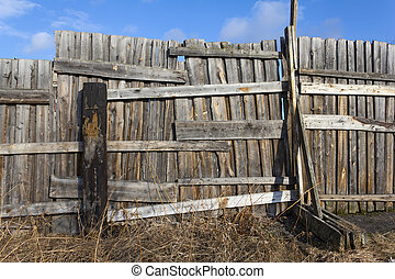 Old wood fence  - Old wood fence