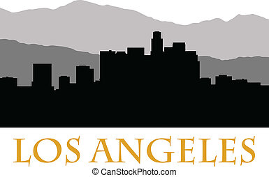 los angeles skyline b - los angeles skyline
