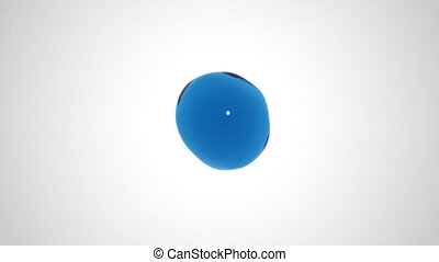 Bubble Burst - A simulation of a water bubble bursting into...