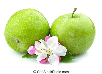 apples with flower