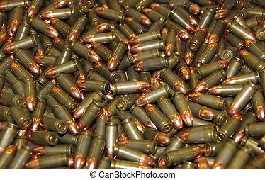 Bullets - Many new bullets scattered as a background