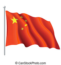 Flag of China - Vector illustration of flag of the People's...