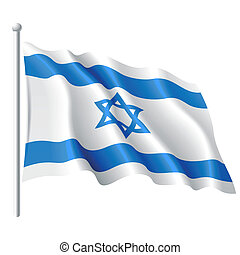 Flag of Israel - Vector illustration of flag of Israel