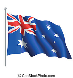 Flag of Australia - Vector illustration of flag of Australia